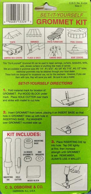 K234 - Set-It Yourself Grommet Tool Kit