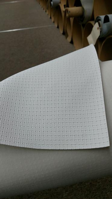 "Woven Pattern White Vinyl 54"""