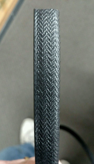 """Black Basket Weave Grain, 21/32"""" Tall / Grip Leg Length is +/- 9/16"""" /  Sold by the continuous Linear Yard"""