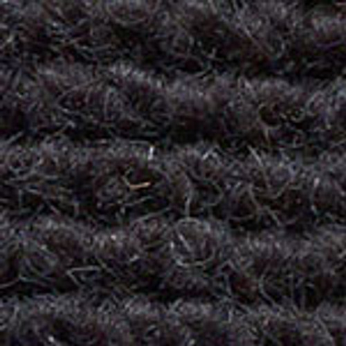 "Imported German Wool Square Weave Carpet 65"" - 315 True Black"