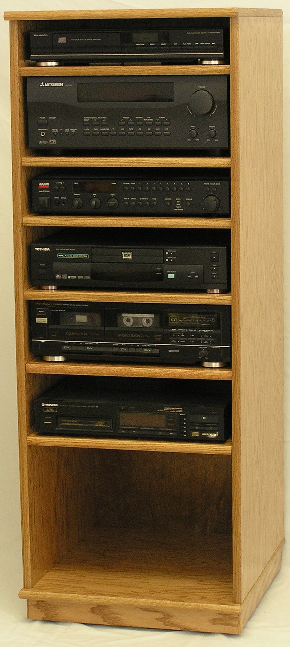 Stereo Rack Cabinet For Modern Components 53 H Shown In Light