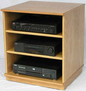 Stereo Rack 27 Inches High Shown In Light Brown Oak Http Www