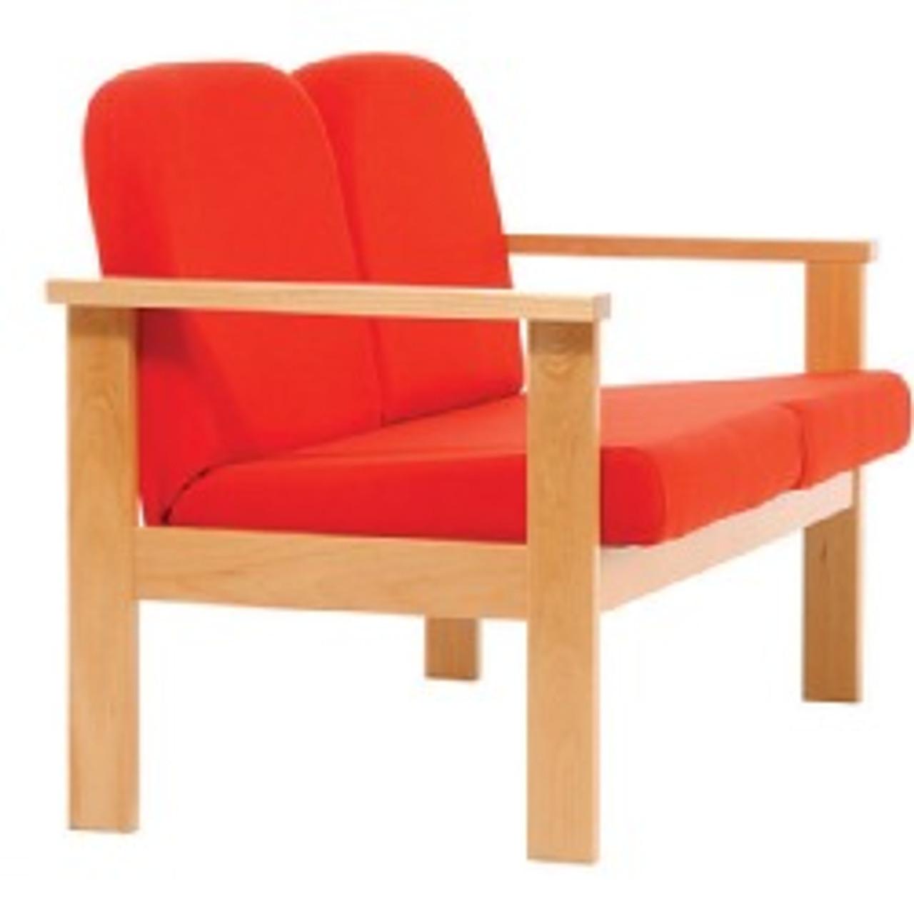 Futura - Wood frame 2 seat reception arm chair
