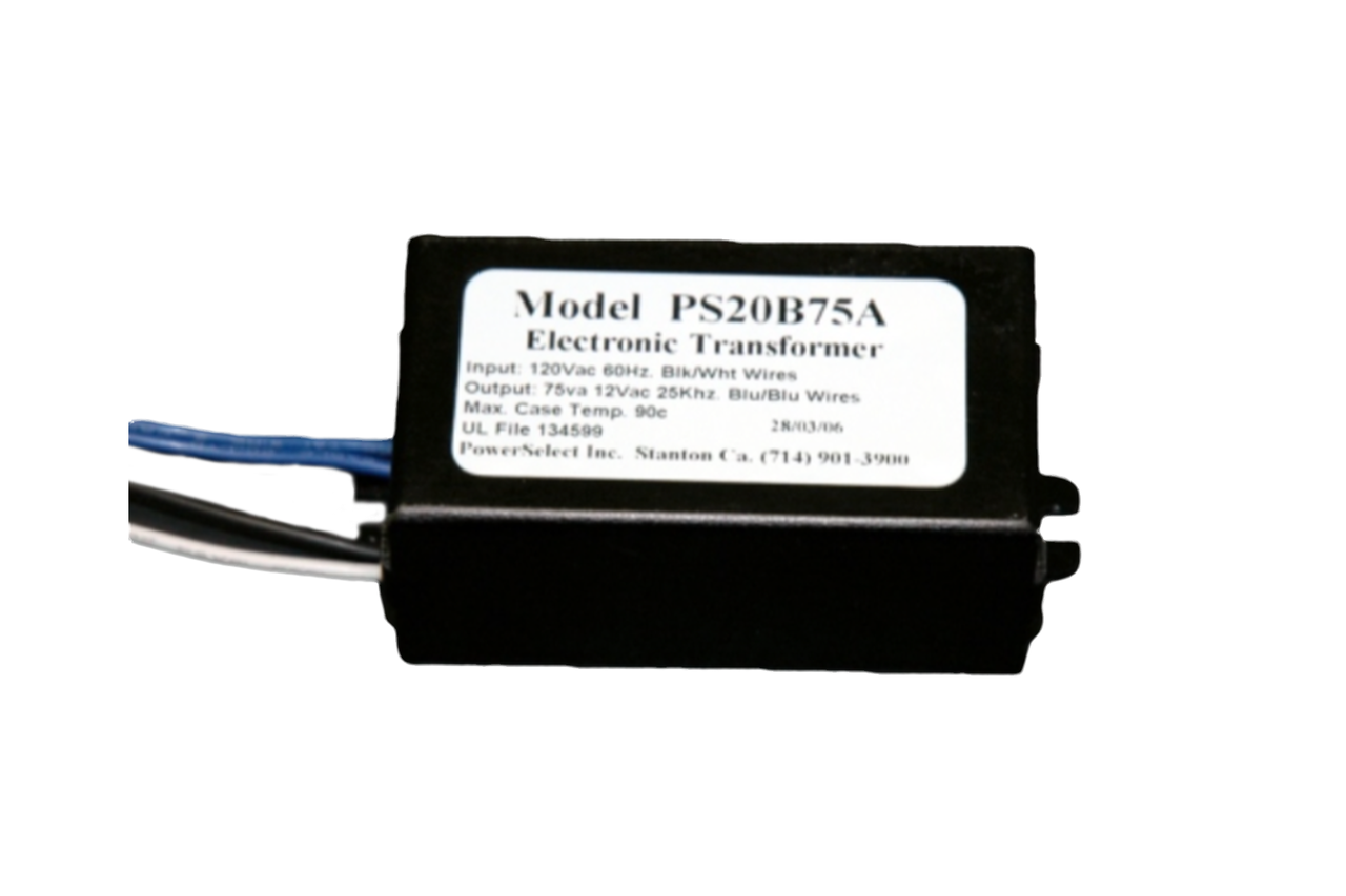 Ps20b75a Powerselect 20 75w Electronic Low Voltage Transformer Sign Ballast Ho Wiring Diagram Dimensions