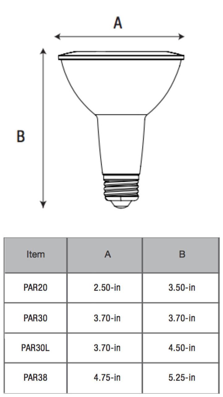9 Watt Naturaled Par30 Led Replacement Lamps