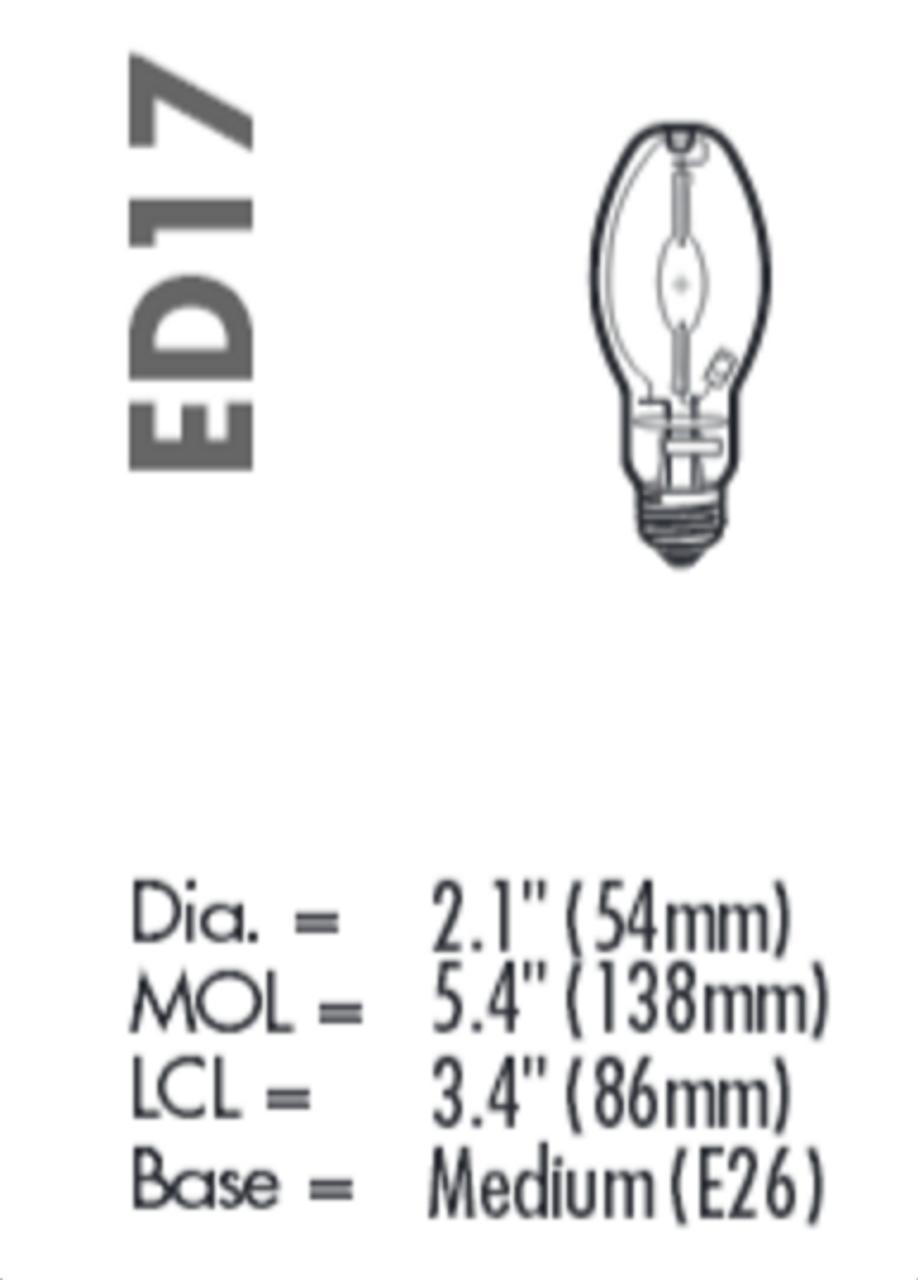 plusrite 175 watt metal halide lamp medium e26 base