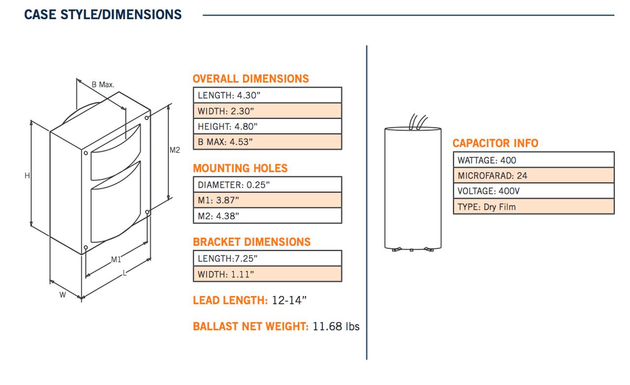 400w Mh 400a Q Kit Keystone Metal Halide Ballast Allanson Wiring Diagram