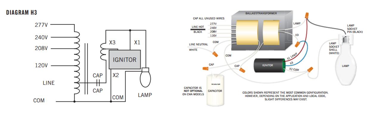 240v Ballast Wiring Diagram - Wiring Liry on