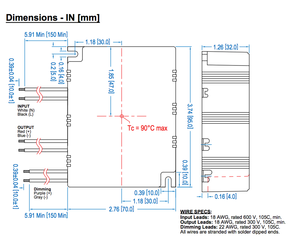 Led40w 114 C0350 D Thomas Research Products Dimmable Led Power Supply Ballast Wiring Diagram On T12 Mag Ic T5