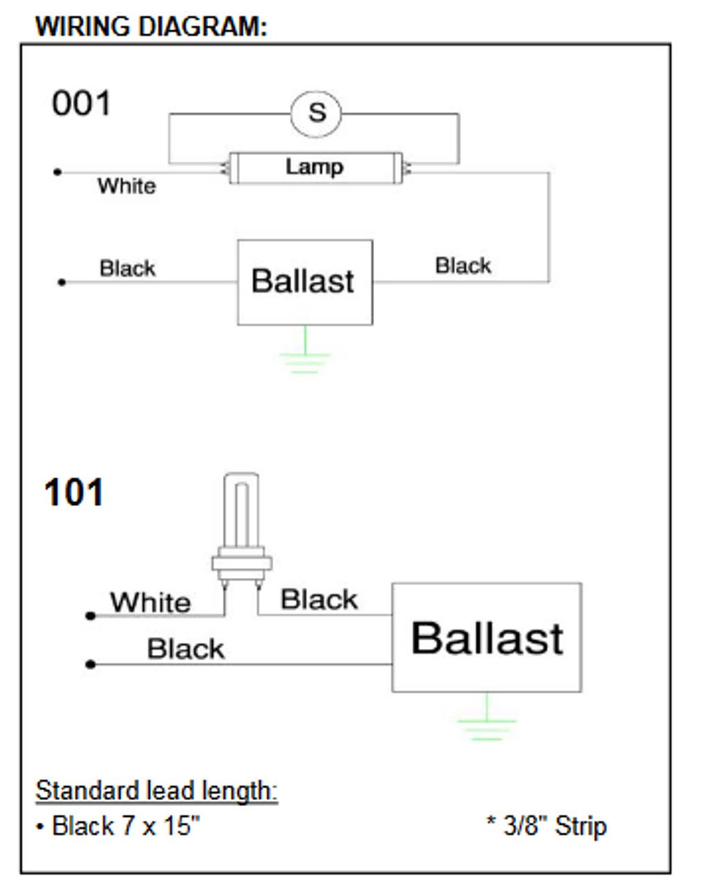 sp2pw sp2p robertson fluorescent replacement ballasts rh ballastshop com LED Ballast Wiring Diagram Electronic Ballast Wiring Diagram