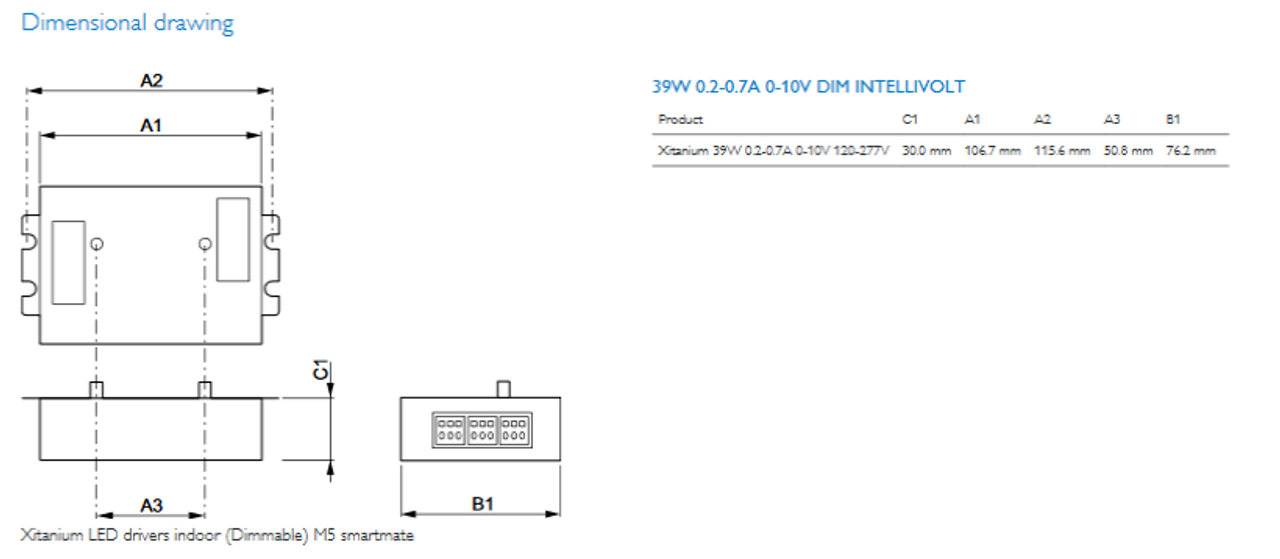 philips 913701213402 39w xitanium dimmable led driver rh ballastshop com LED Dimmer Switch Wiring Diagrams LED Dimmer Switch Wiring Diagrams
