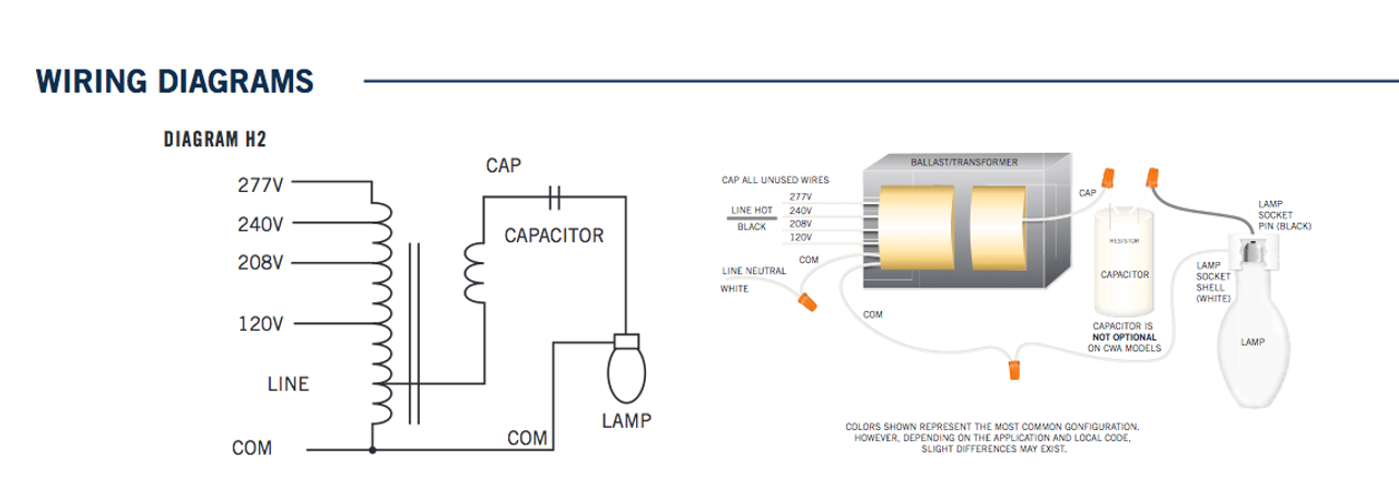 208 volt hps ballast wiring diagram wiring diagram u2022 rh msblog co metal halide ballast wiring diagram metal halide lamp-ballast wiring diagram