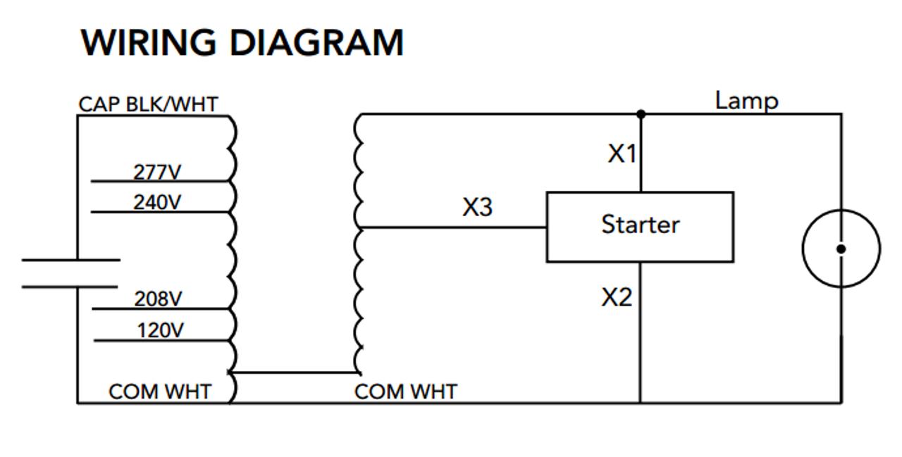 s 150 4t hxh k howard high pressure sodium ballast kit rh ballastshop com s55 ballast wiring diagram T8 Ballast Wiring Diagram