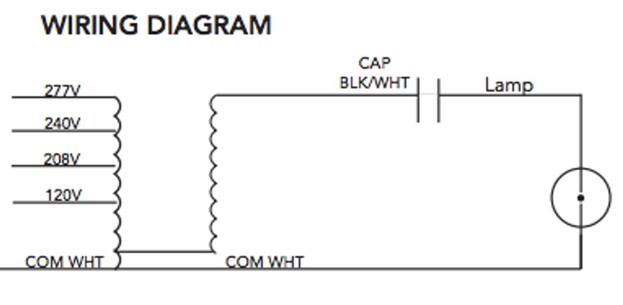 M 250 4t Cwa K Howard Metal Halide Ballast Kit L& Ignitor Diagram Metal Halide 208 Wiring Diagram