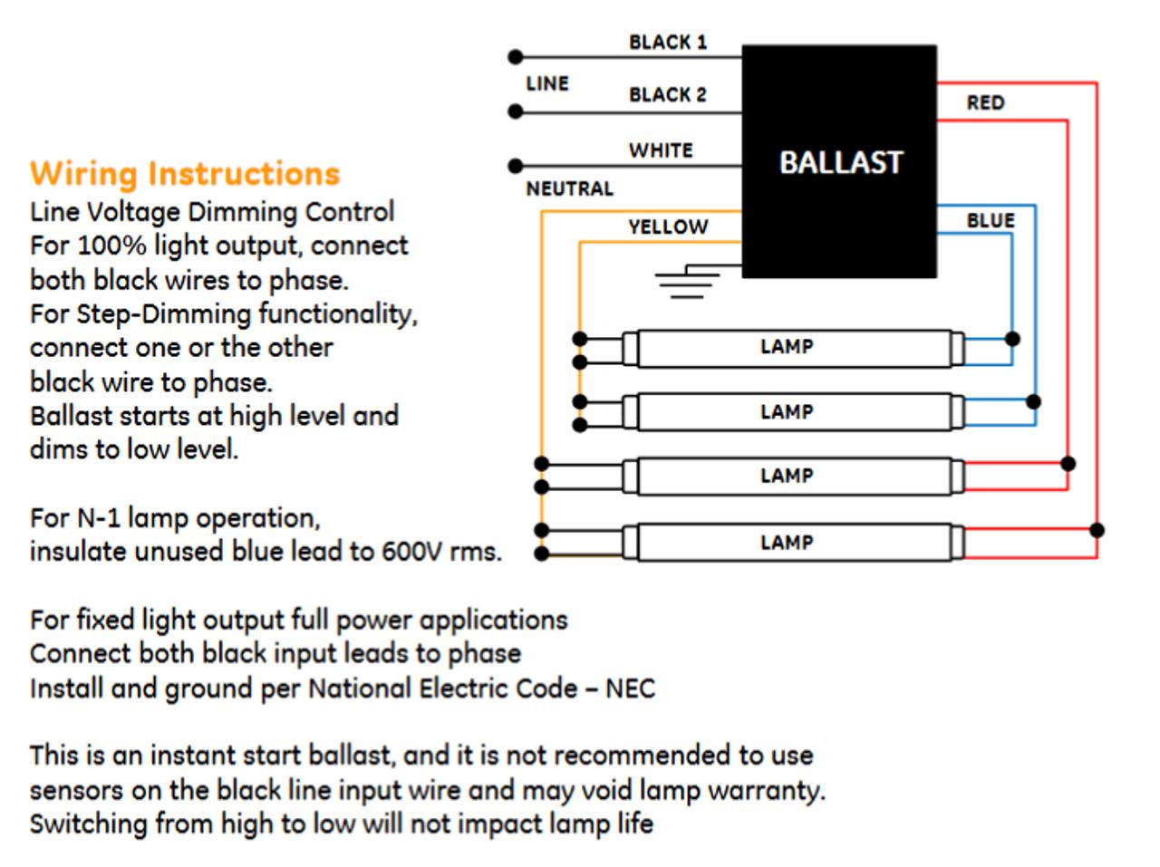 ge432max90 s60 ge 73229 ultramax t8 bi level dimming ballast rh ballastshop com