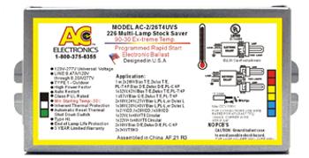 AC Electronics AC-2/26T4UVS1 226 Electronic CFL Ballast