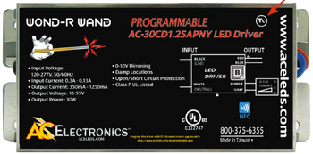 AC Electronics AC-30CD1.25APNY Programmable LED Driver
