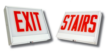CAXTE Chicago Approved Steel LED Exit Sign