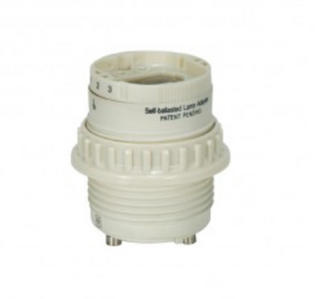 SU18 Socket Ballast Replacement - 18W 4-pin to GU24 with Threaded Ring