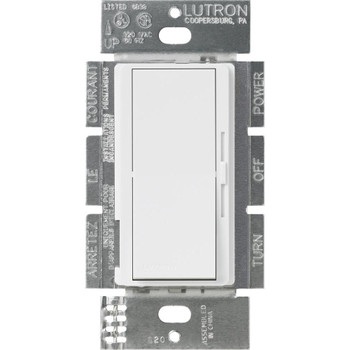 Lutron Diva DVSTV-WH Dimmer Switch White with Wallplate
