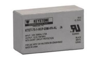 KTET-75-1-SCP-DIM-HV-AL KEYSTONE 75W 12V Dimmable Transformer