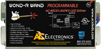AC Electronics AC-40CD1.4APKV Programmable LED Driver