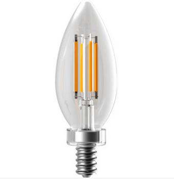 EIKO LED4WB11E12/FIL/827K-DIM-G6 4W B11 Filament Decorative LED Bulb