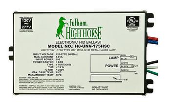H8-UNV-175HSC Fulham HighHorse eHID Ballast - Side Leads