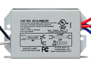 IG13-20ELSX Inter-Global Electronic Ballast