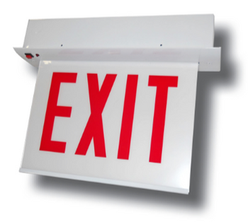 CARELZXTE Chicago Approved Steel LED Edgelit Exit Signs - Recessed Mount