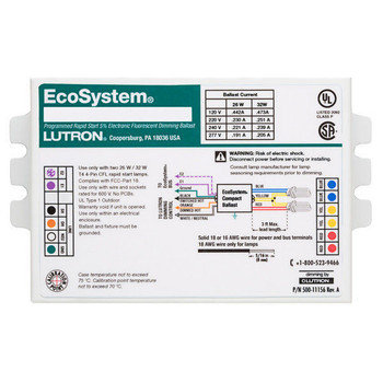 EC3DT4MWKU2 Lutron EcoSystem Digital Dimming Ballasts
