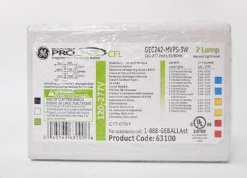 GEC242-MVPS-3W (63100) GE MultiVolt ProLine CFL Multi-Lamp Ballast