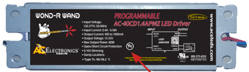 AC Electronics AC-40CD1.4APBKV Bottom Mount Programmable LED Driver