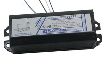 HP21827P Robertson Ballasts 18W 2-pin CFLs - Bottom Exit Studs - 277V