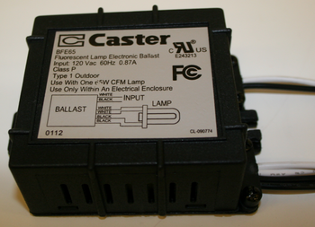 BFE65 Caster Compact Fluorescent Ballast