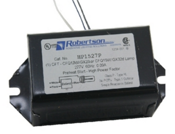 HP1527P-BLS Robertson Ballasts 13W 2-pin CFL 277V