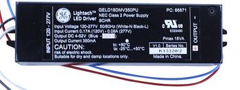 GELD18DMV350PU GE Lightech (GE66871) Transformer 18W DC 350mA