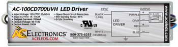 AC Electronics AC-100CD700UVH LED Driver