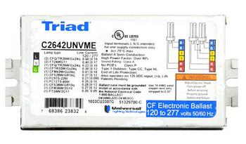 C2642/347SE Universal Triad® 347V CFL Ballast