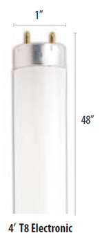 GE F32T8/SP50/ECO (16090) 32W 4 ft. Fluorescent Tube, Natural White
