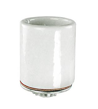 80-1318 SATCO Keyless 3 Terminal Grounded Porcelain Socket