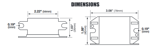 Inter-Global IG13-20EL Dimensions