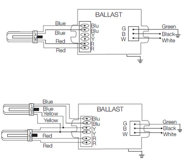 qtp2x26cf unv dm sylvania 51833 electronic 26w cfl ballasts rh ballastshop com sylvania hid ballast wiring diagram T8 Electronic Ballast Wiring Diagram