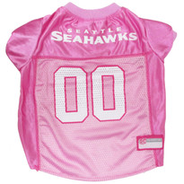 Seattle Seahawks PINK NFL Football Pet Jersey