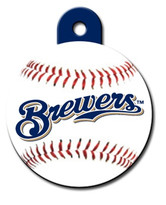 Milwaukee Brewers ROUND Engraved Dog ID Tag