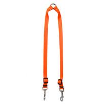 Solid Orange Coupler Dog Leash