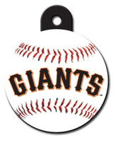 San Francisco Giants ROUND Engraved Dog ID Tag