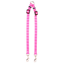 Pink and Pink Stripe Coupler Dog Leash
