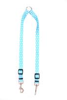 New Blue Polka Dot Coupler Dog Leash