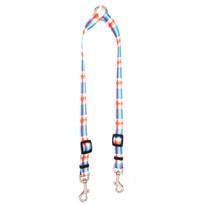 Madras Blue Coupler Dog Leash